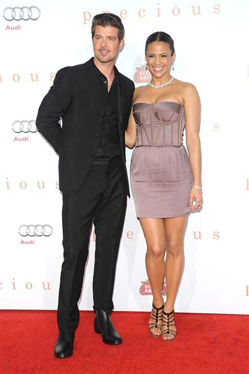 Robin Thicke and Paula Patton appear at the AFI Fest screening of &#39;Precious&#39; in Los Angeles, California on Nov. 1, 2009.  <span class=meta>(Sara De Boer &#47; startraksphoto.com)</span>
