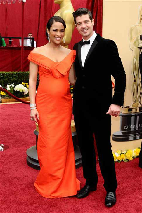 Robin Thicke and Paula Patton appear at the 82nd annual Oscars in Los Angeles, California on March 7, 2010.  <span class=meta>(Kyle Rover &#47; startraksphoto.com)</span>