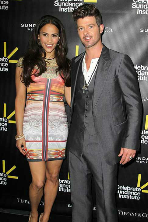 Robin Thicke and Paula Patton appear at the Sundance Institute Benefit in Los Angeles, California on June 6, 2012.  <span class=meta>(Norman Scott &#47; startraksphoto.com)</span>