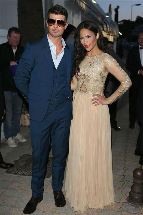 Robin Thicke and Paula Patton appear at the 66th annual Cannes Film Festival on May 20, 2013. <span class=meta>(Morris &#47; Trautmann &#47; startraksphoto.com)</span>