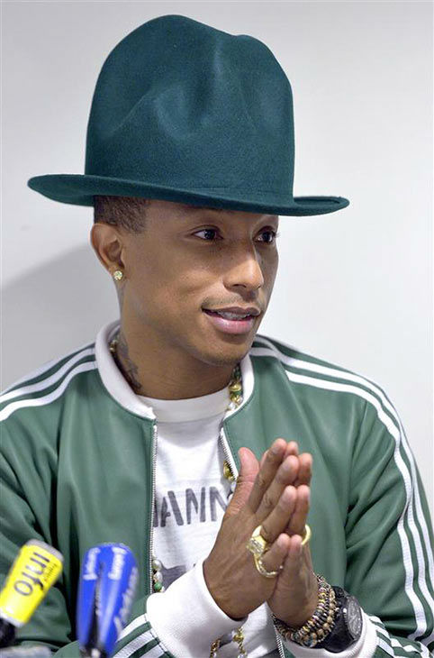 "<div class=""meta image-caption""><div class=""origin-logo origin-image ""><span></span></div><span class=""caption-text"">Pharrell Williams appears during an interview in Paris on Feb. 24, 2014. (VERHNET/DALLE/startraksphoto.com)</span></div>"