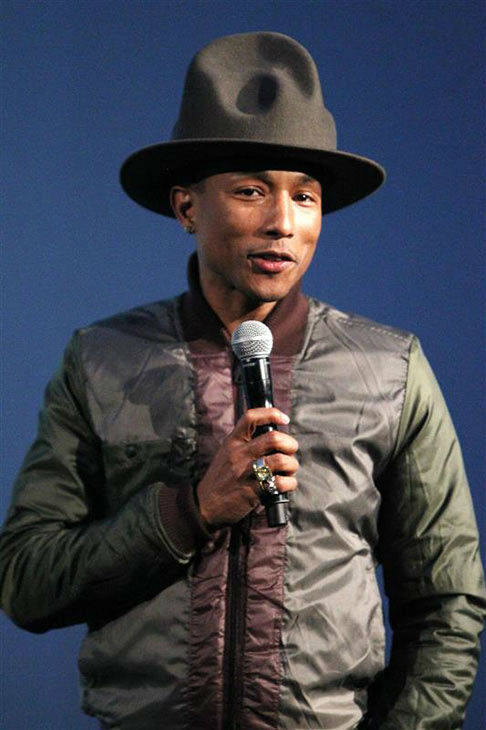 "<div class=""meta ""><span class=""caption-text "">Pharrell Williams appears at the announcement of 'RAW for the Oceans,' a collaboration with G-Star RAW and  Bionic Yarn, on Feb. 8, 2014. The collaboration is a creative exploration in innovating denim, employing recycled materials harvested from the ocean and transformed into fabric. (Kristina Bumphrey/Startraksphoto.com)</span></div>"