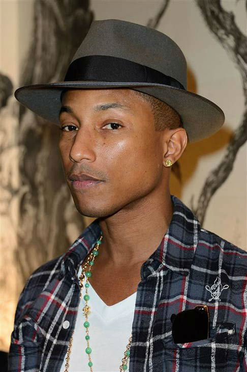 Pharrell Williams appears at the Moncler Store opening party in Paris on Sept. 26, 2013. <span class=meta>(Nicolas Briquet&#47;Abaca&#47;startraksphoto.com)</span>