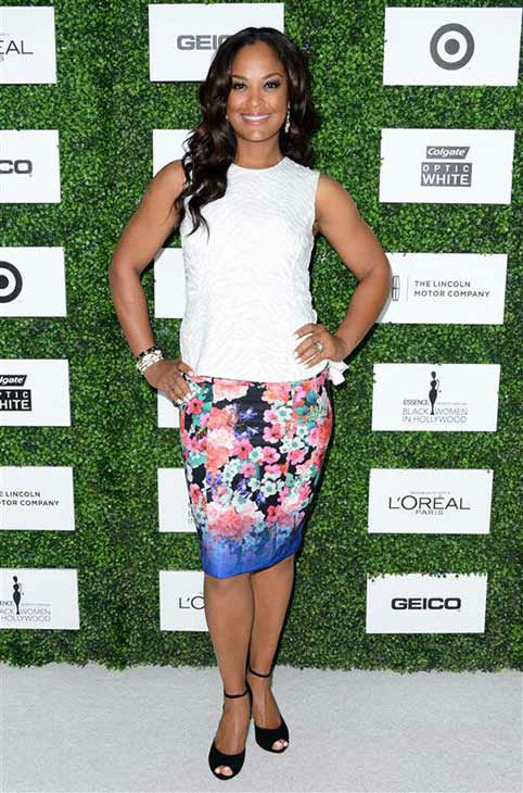 Laila Ali appears at the 7th Annual ESSENCE Black Women Luncheon on Feb. 27, 2014. <span class=meta>(Lionel Hahn&#47;AbacaUSA&#47;startraksphoto.com)</span>