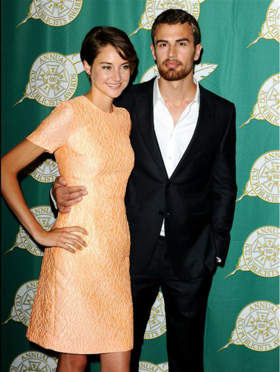 "<div class=""meta ""><span class=""caption-text "">Shailene Woodley (Tris) and Theo James (Four) appear at the 51st annual Publicists Awards luncheon in Beverly Hills, California on Feb. 28, 2014. (Daniel Robertson / Startraksphoto.com)</span></div>"