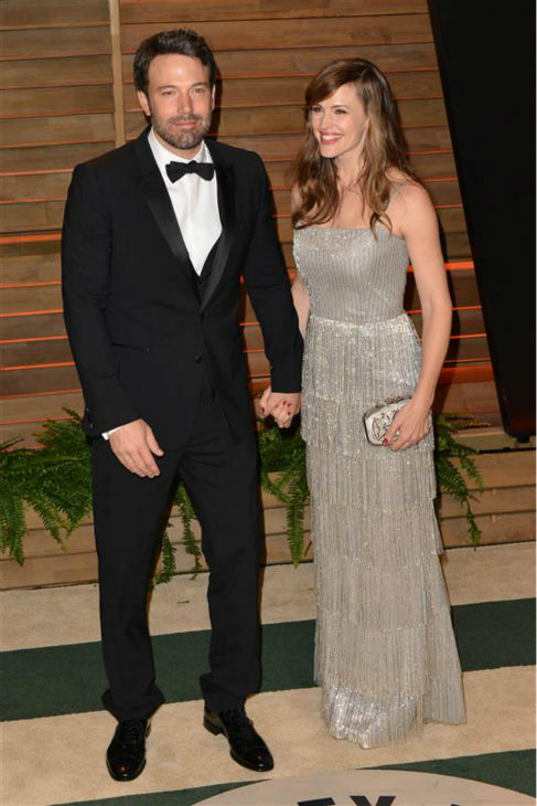 Jenny Garner, who turned 42 on April 17, 2014, appears with husband and fellow actor Ben Affleck at the 2014 Vanity Fair post-Oscars party in Los Angeles on March 2, 2014. <span class=meta>(Tony DiMaio &#47; Startraksphoto.com)</span>