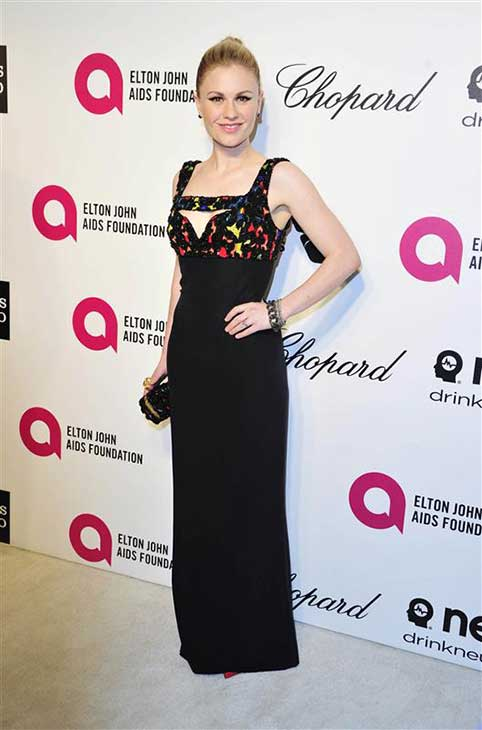 Anna Paquin appears at the 22nd annual Elton John AIDS Foundation&#39;s Oscar viewing party in Los Angeles, California on March 2, 2014. <span class=meta>(Michael Williams &#47; startraksphoto.com)</span>