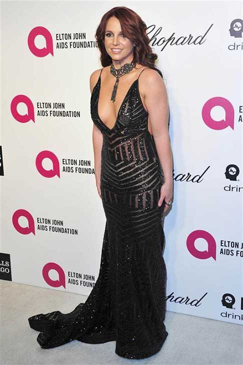 Britney Spears appears at the 22nd annual Elton John AIDS Foundation&#39;s Oscar viewing party in Los Angeles, California on March 2, 2014. <span class=meta>(Michael Williams &#47; startraksphoto.com)</span>