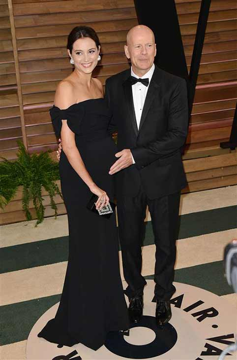 Bruce Willis and Emma Heming appear at the 2014 Vanity Fair Oscar party in Los Angeles, California on March 2, 2014. <span class=meta>(Tony DiMaio &#47; startraksphoto.com)</span>