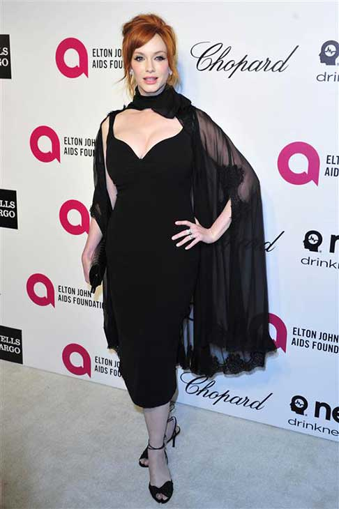 Christina Hendricks appears at the 22nd annual Elton John AIDS Foundation&#39;s Oscar viewing party in Los Angeles, California on March 2, 2014. <span class=meta>(Michael Williams &#47; startraksphoto.com)</span>