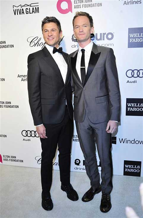 David Burtka and Neil Patrick Harris appear at the 22nd annual Elton John AIDS Foundation&#39;s Oscar viewing party in Los Angeles, California on March 2, 2014. <span class=meta>(Michael Williams &#47; startraksphoto.com)</span>