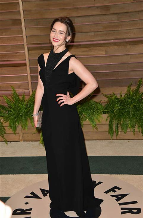 Emilia Clarke appears at the 2014 Vanity Fair Oscar party in Los Angeles, California on March 2, 2014. <span class=meta>(Tony DiMaio &#47; startraksphoto.com)</span>