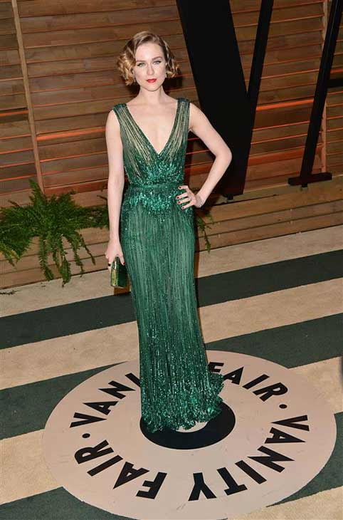 Evan Rachel Wood appears at the 2014 Vanity Fair Oscar party in Los Angeles, California on March 2, 2014. <span class=meta>(Tony DiMaio &#47; startraksphoto.com)</span>