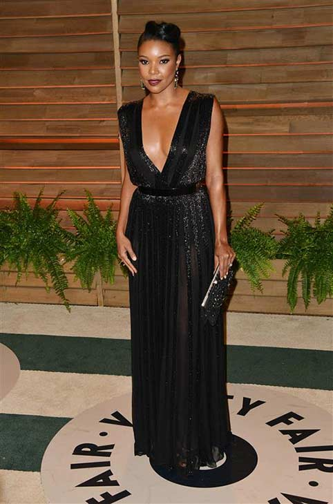 "<div class=""meta image-caption""><div class=""origin-logo origin-image ""><span></span></div><span class=""caption-text"">Gabrielle Union appears at the 2014 Vanity Fair Oscar party in Los Angeles, California on March 2, 2014. (Tony DiMaio / startraksphoto.com)</span></div>"