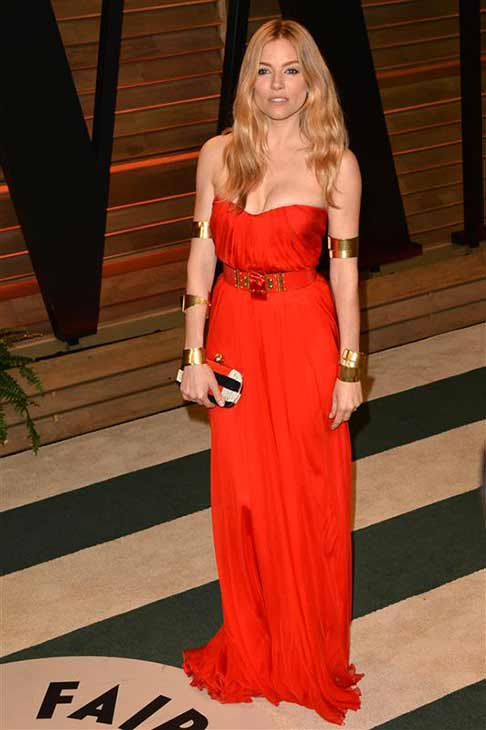 Sienna Miller appears at the 2014 Vanity Fair Oscar party in Los Angeles, California on March 2, 2014. <span class=meta>(Tony DiMaio &#47; startraksphoto.com)</span>