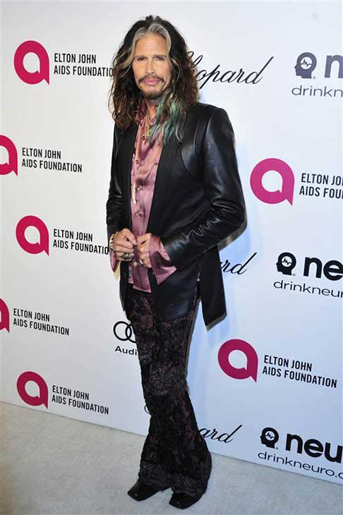 Steven Tyler appears at the 22nd annual Elton John AIDS Foundation&#39;s Oscar viewing party in Los Angeles, California on March 2, 2014. <span class=meta>(Michael Williams &#47; startraksphoto.com)</span>