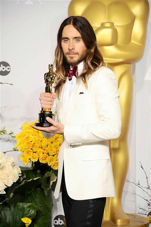 Jared Leto appears in the press room at the 2014 Oscars on March 2, 2014. <span class=meta>(Kyle Rover&#47;startraksphoto.com)</span>