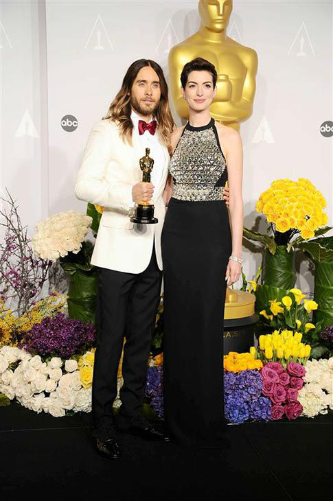 "<div class=""meta image-caption""><div class=""origin-logo origin-image ""><span></span></div><span class=""caption-text"">Jared Leto and Anne Hathaway appear in the press room at the 2014 Oscars on March 2, 2014. (Kyle Rover/startraksphoto.com)</span></div>"