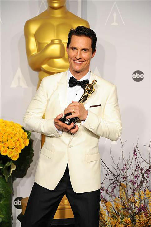 Matthew McConaughey appears in the press room at the 2014 Oscars on March 2, 2014. <span class=meta>(Kyle Rover&#47;startraksphoto.com)</span>