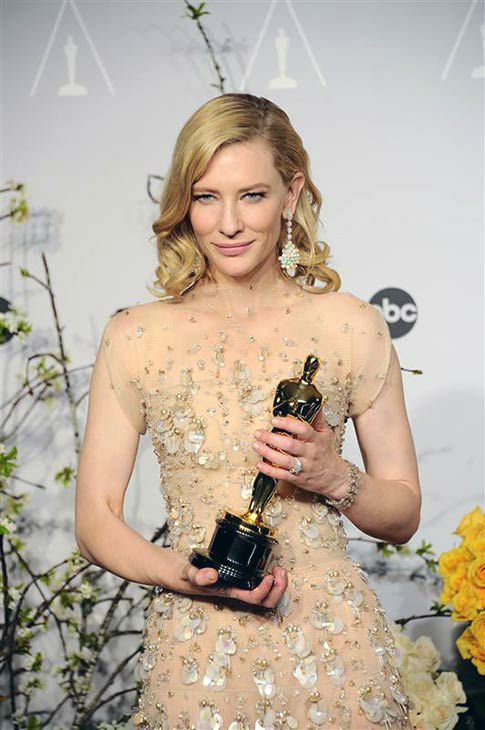 Cate Blanchett appears in the press room at the 2014 Oscars on March 2, 2014. <span class=meta>(Kyle Rover&#47;startraksphoto.com)</span>