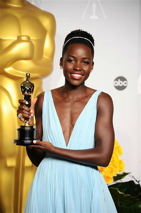 Lupita Nyong&#39;o appears in the press room at the 2014 Oscars on March 2, 2014. <span class=meta>(Kyle Rover&#47;startraksphoto.com)</span>