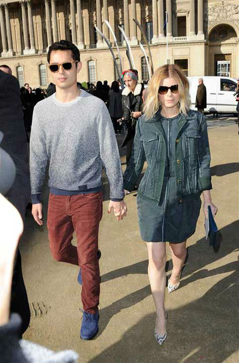 Kate Mara &#40;&#39;House of Cards&#39;&#41; and Max Minghella appear at the Louis Vuitton show during Fall&#47;Winter 2014 Paris Fashion week on March 5, 2014.  <span class=meta>(Alban Wyters &#47; startraksphoto.com)</span>