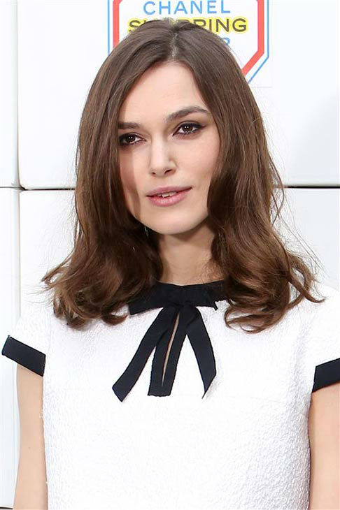 Keira Knightley appears at the Chanel show during Fall&#47;Winter 2014 Paris Fashion week on March 4, 2014.  <span class=meta>(Tim Sparrow &#47; startraksphoto.com)</span>