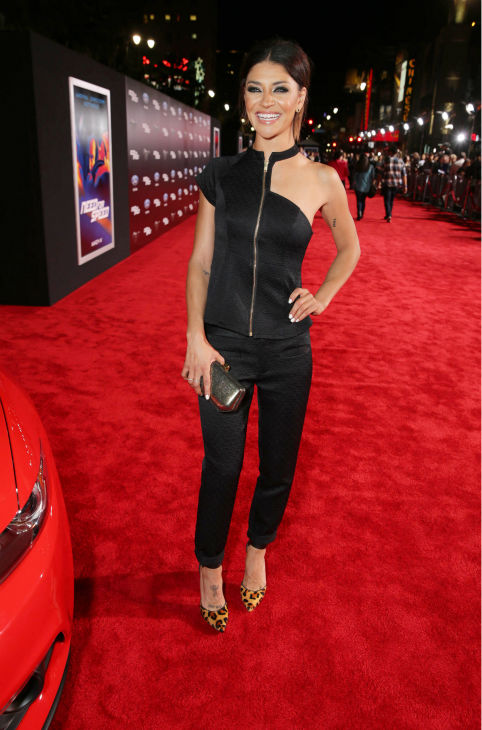 Jessica Szohr of Gossip Girl&#39; fame appears at the premiere of DreamWorks Pictures&#39; &#39;Need For Speed&#39; at The TCL Chinese Theatre in Hollywood, California on March 6, 2014. <span class=meta>(Eric Charbonneau &#47; Invision for DreamWorks Pictures &#47; AP Images)</span>
