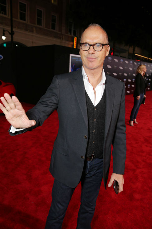 Cast member Michael Keaton appears at the premiere of DreamWorks Pictures&#39; &#39;Need For Speed&#39; at The TCL Chinese Theatre in Hollywood, California on March 6, 2014. <span class=meta>(Eric Charbonneau &#47; Invision for DreamWorks Pictures &#47; AP Images)</span>