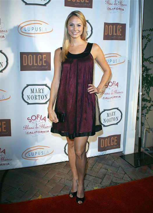 "<div class=""meta image-caption""><div class=""origin-logo origin-image ""><span></span></div><span class=""caption-text"">Stacy Keibler appears at the Mary Norton boutique opening in Los Angeles, California on Sept. 25, 2007.  (Jen Lowery / startraksphoto.com)</span></div>"