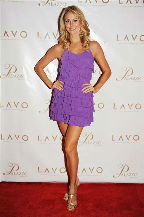 Stacy Keibler appears at the grand opening of LAVO Restaurant and Nightclub in Las Vegas, Nevada on Sept. 13, 2008.  <span class=meta>(Seth Browarnik &#47; startraksphoto.com)</span>