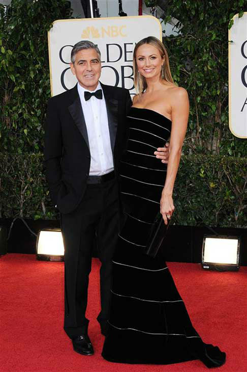 "<div class=""meta ""><span class=""caption-text "">Stacy Keibler appears at the 70th annual Golden Globe Awards with former boyfriend George Clooney on Jan. 13, 2013.  (Sara De Boer / startraksphoto.com)</span></div>"