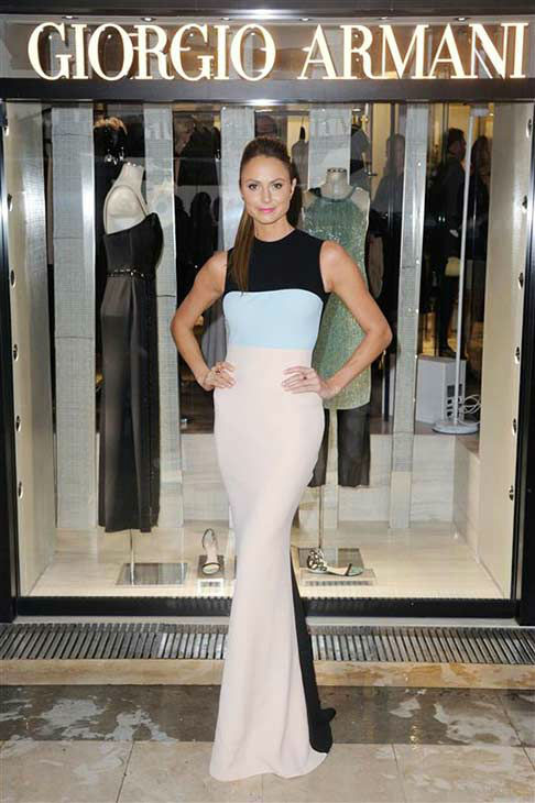 "<div class=""meta image-caption""><div class=""origin-logo origin-image ""><span></span></div><span class=""caption-text"">Stacy Keibler appears at the Giorgio Armani boutique opening in Cannes, France on May 22, 2013.  (Alban Wyters / startraksphoto.com)</span></div>"