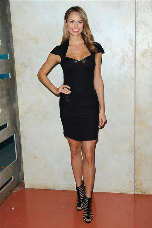 Stacy Keibler appears on set of the show &#39;Supermarket Superstar,&#39; for which she serves as a host, on July 31, 2013.  <span class=meta>(Michael Simon &#47; startraksphoto.com)</span>