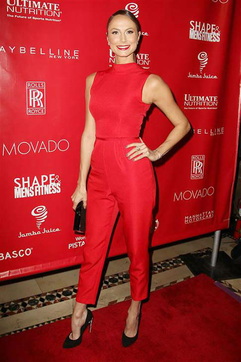 Stacy Keibler appears at Shape and Men&#39;s Fitness Super Bowl party in New York City on Jan. 31, 2014.  <span class=meta>(Amanda Schwab &#47; startraksphoto.com)</span>