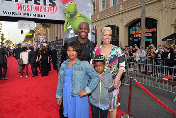 Terry Crews, Rebecca Crews and family arrive at the world premiere of Disney&#39;s &#39;Muppets Most Wanted&#39; at the El Capitan Theatre on March 11, 2014 in Hollywood, California. <span class=meta>(Alberto E. Rodriguez&#47;Getty Images for Disney)</span>