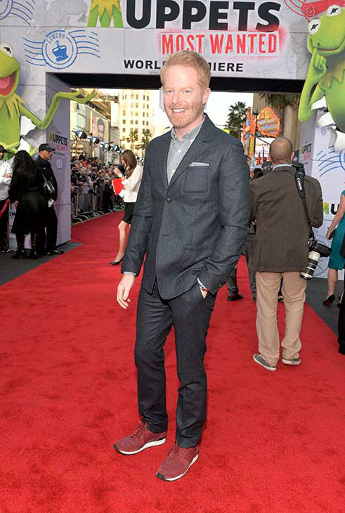 "<div class=""meta image-caption""><div class=""origin-logo origin-image ""><span></span></div><span class=""caption-text"">Jesse Tyler Ferguson arrives at the world premiere of Disney's 'Muppets Most Wanted' at the El Capitan Theatre on March 11, 2014 in Hollywood, California. (Alberto E. Rodriguez/Getty Images for Disney)</span></div>"