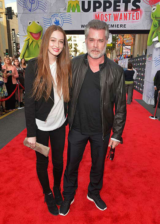 Ray Liotta &#40;R&#41; and daughter Karsen Liotta, 15, arrive at the world premiere of Disney&#39;s &#39;Muppets Most Wanted&#39; at the El Capitan Theatre on March 11, 2014 in Hollywood, California. <span class=meta>(Alberto E. Rodriguez&#47;Getty Images for Disney)</span>