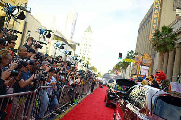 Muppets arrive at the world premiere of Disney&#39;s &#39;Muppets Most Wanted&#39; at the El Capitan Theatre on March 11, 2014 in Hollywood, California.  <span class=meta>(Charley Gallay&#47;Getty Images for Disney)</span>