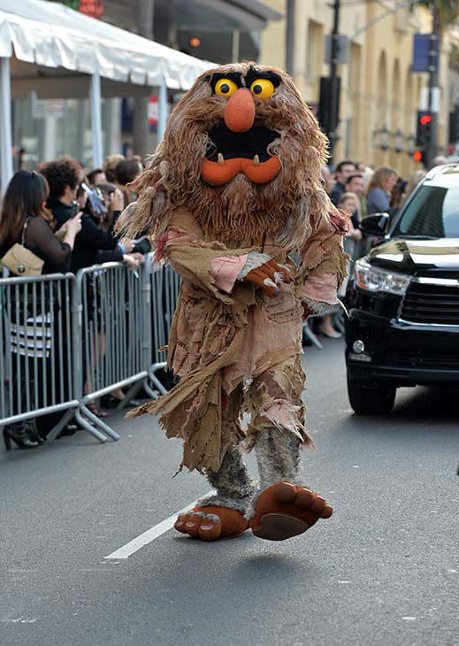 Sweetums the Muppet arrives at the world premiere of Disney&#39;s &#39;Muppets Most Wanted&#39; at the El Capitan Theatre on March 11, 2014 in Hollywood, California.  <span class=meta>(Alberto E. Rodriguez&#47;Getty Images for Disney)</span>
