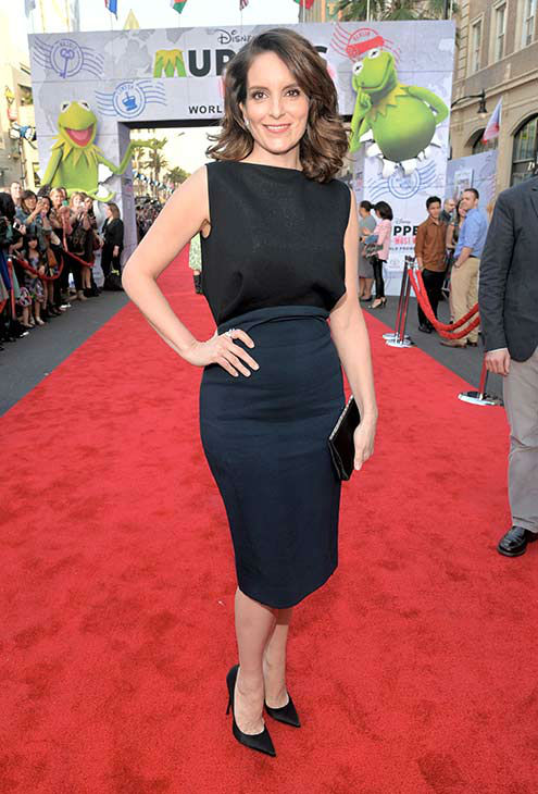 Tina Fey arrives at the world premiere of Disney&#39;s &#39;Muppets Most Wanted&#39; at the El Capitan Theatre on March 11, 2014 in Hollywood, California.  <span class=meta>(Alberto E. Rodriguez&#47;Getty Images for Disney)</span>