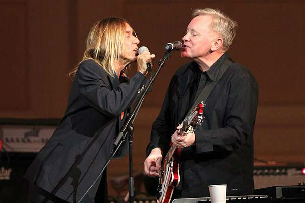Iggy Pop and Bernard Sumner of New Order perform at the 24th annual Tibet House US Benefit Concert in New York City on March 11, 2014.  <span class=meta>(Dave Allocca &#47; startraksphoto.com)</span>