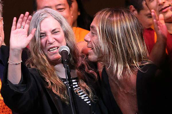 Iggy Pop and Patti Smith perform at the 24th annual Tibet House US Benefit Concert in New York City on March 11, 2014.  <span class=meta>(Dave Allocca &#47; startraksphoto.com)</span>