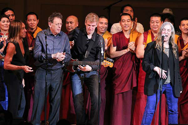 Iggy Pop, Philip Glass, Patti Smith and a group of Monks perform at the 24th annual Tibet House US Benefit Concert in New York City on March 11, 2014.  <span class=meta>(Dave Allocca &#47; startraksphoto.com)</span>
