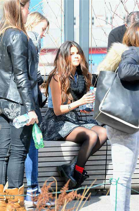 "<div class=""meta ""><span class=""caption-text "">Selena Gomez appears on the set of her Adidas NEO ad campaign shoot in New York City on March 11, 2014. (247paps.Tv / startraksphoto.com)</span></div>"