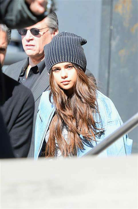 Selena Gomez appears on the set of her Adidas NEO ad campaign shoot in New York City on March 11, 2014. <span class=meta>(247paps.Tv &#47; startraksphoto.com)</span>