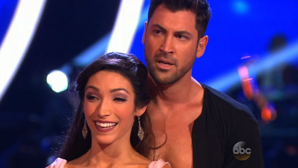 Meryl Davis and Maksim Chmerkovskiy danced the Cha Cha Cha on week one of &#39;Dancing With The Stars&#39; on March 17, 2014. They received 24 out of 30 points from the judges. <span class=meta>(ABC Photo)</span>