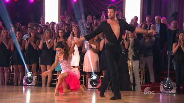 Meryl Davis and Maksim Chmerkovskiy dance the Cha Cha Cha on week one of &#39;Dancing With The Stars&#39; on March 17, 2014. They received 24 out of 30 points from the judges. <span class=meta>(ABC Photo)</span>