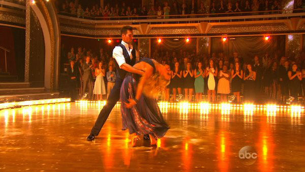 James Maslow and Peta Murgatroyd dance the Foxtrot on week one of &#39;Dancing With The Stars&#39; on March 17, 2014. They received 21 out of 30 points from the judges. <span class=meta>(ABC Photo)</span>