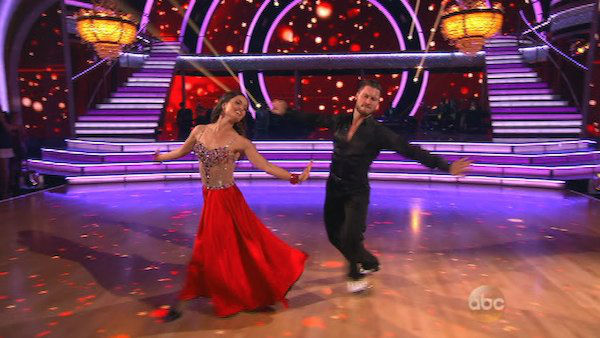 Danica McKellar and Valentin Chmerkovskiy dance the Foxtrot on week one of &#39;Dancing With The Stars&#39; on March 17, 2014. They received 24 out of 30 points from the judges. <span class=meta>(ABC Photo)</span>
